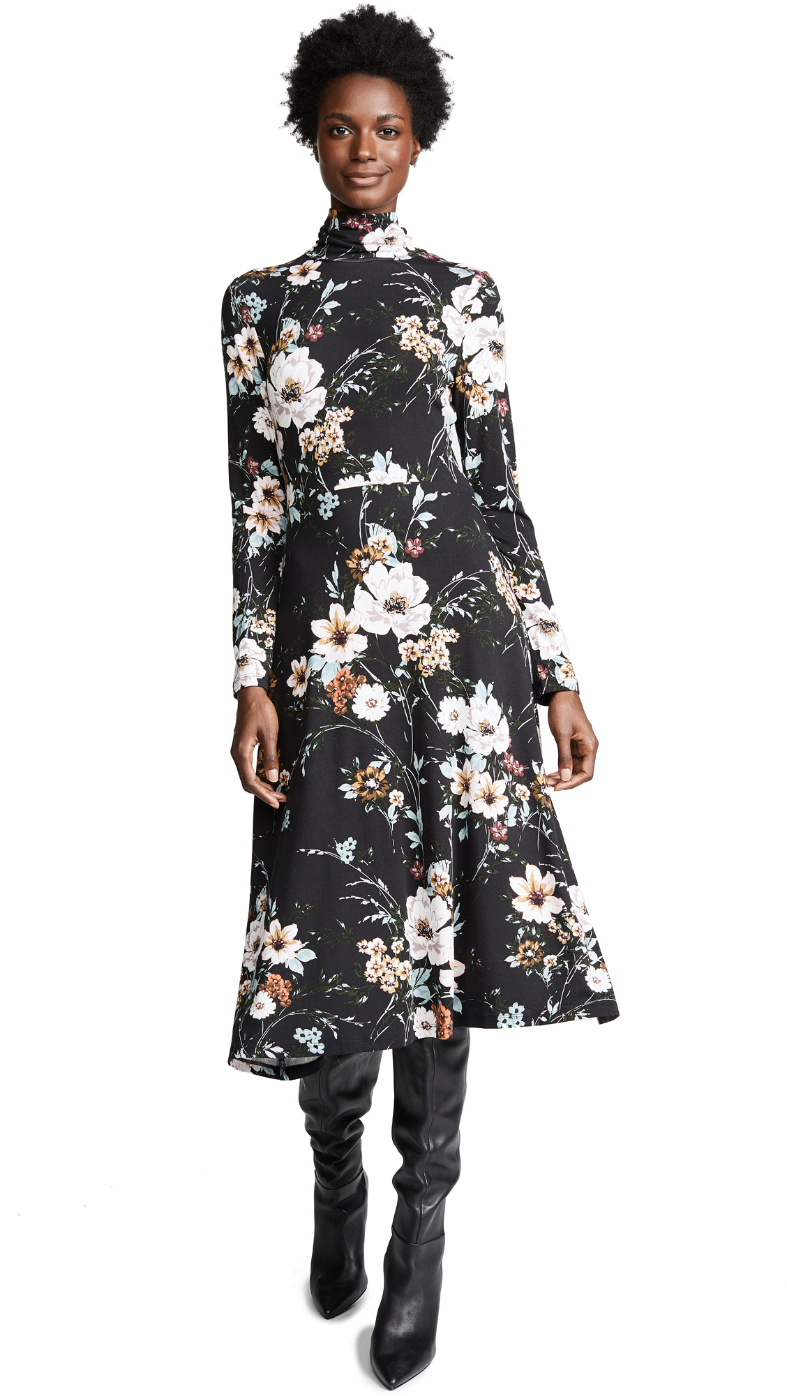 YUMI KIM Stargaze Dress in Flower Patch Black