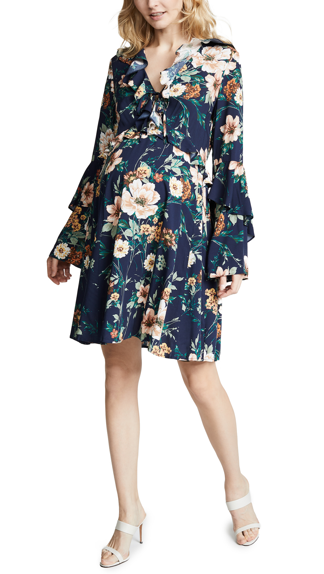 YUMI KIM Maternity Sophia Dress in Flower Patch Navy