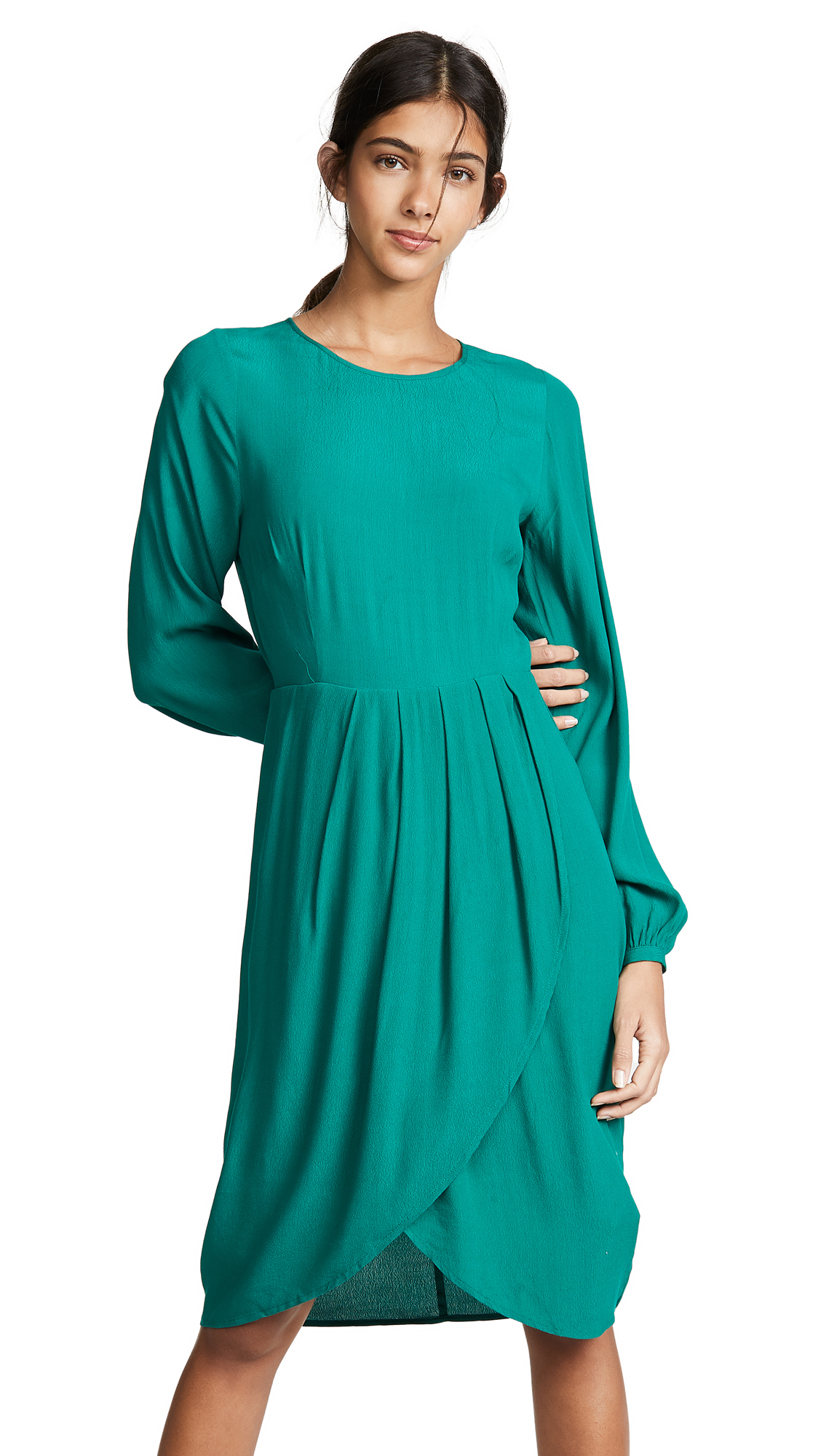 YUMI KIM Dreamer Dress in Jewel Emerald