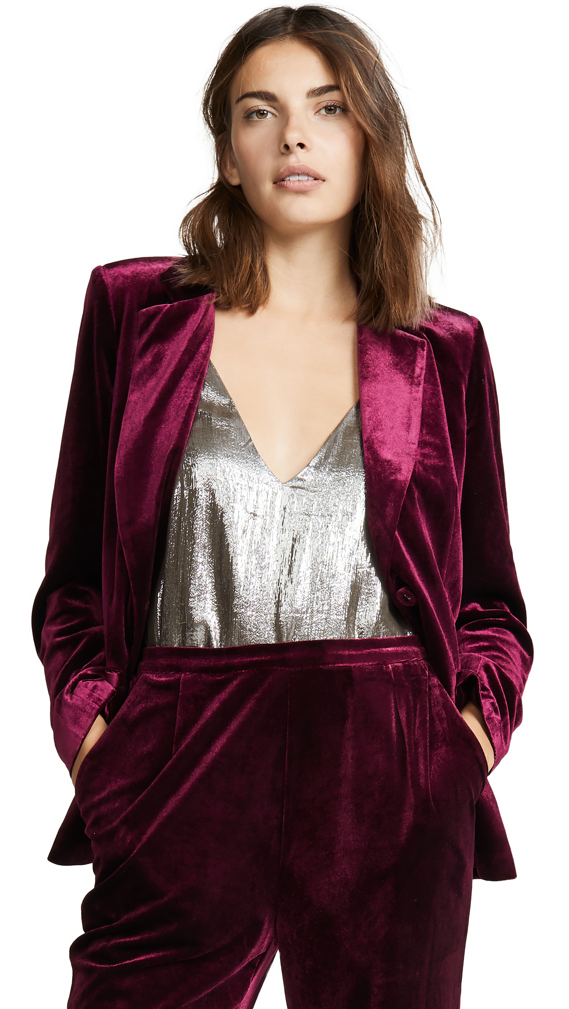 YUMI KIM Trail Blazer Jacket in Burgundy Velvet