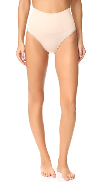 Yummie Seamlessly Shaped Ultralight Thong In Frappe