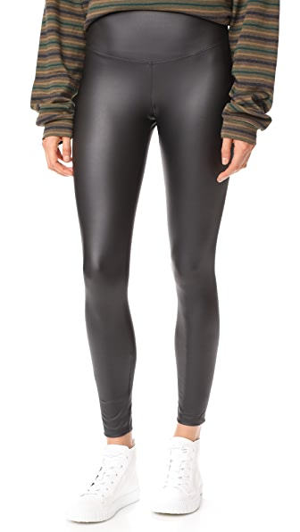 Yummie Tony Faux Leather Leggings - Black