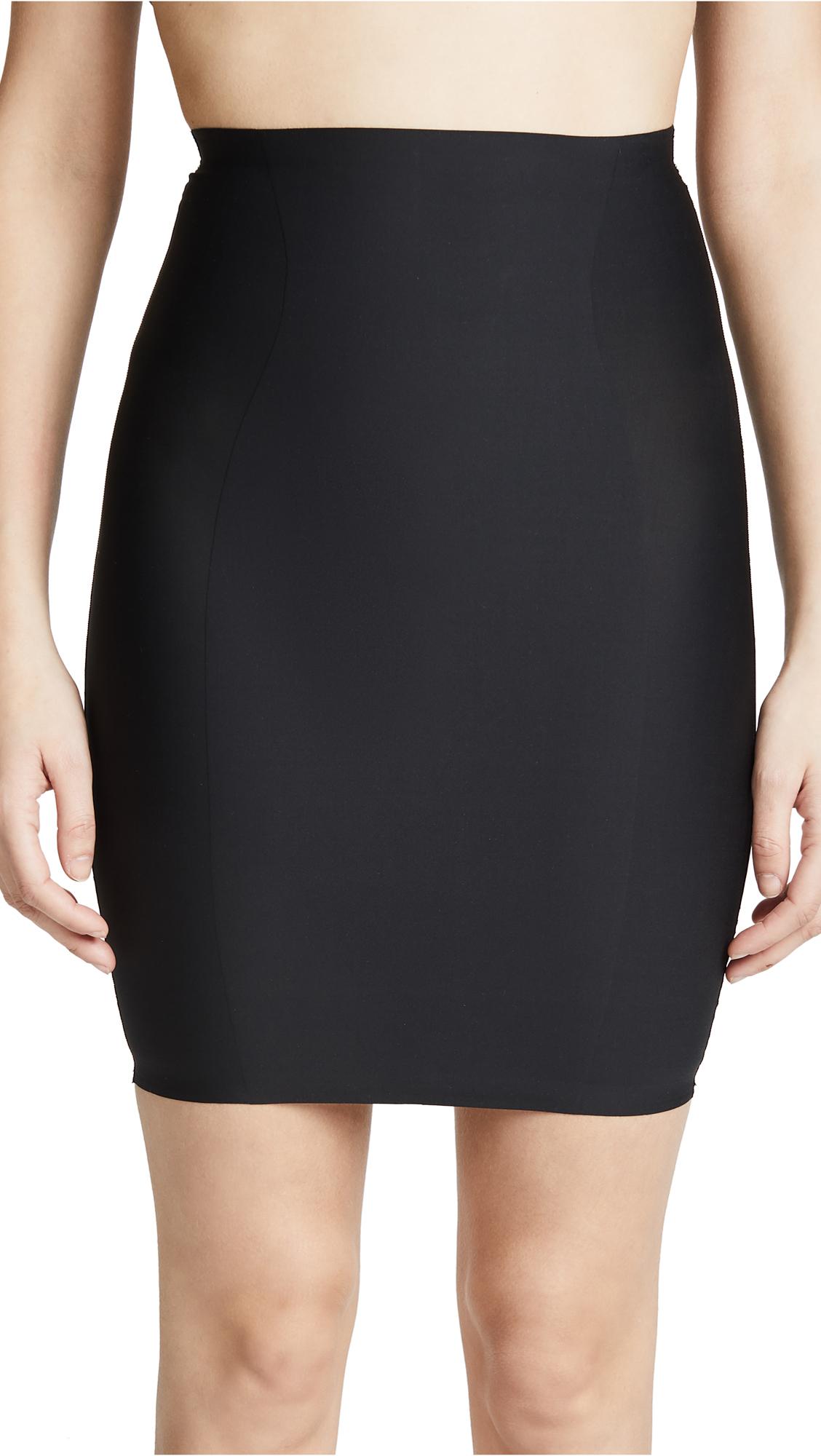 High Waist Skirt Slip, Black