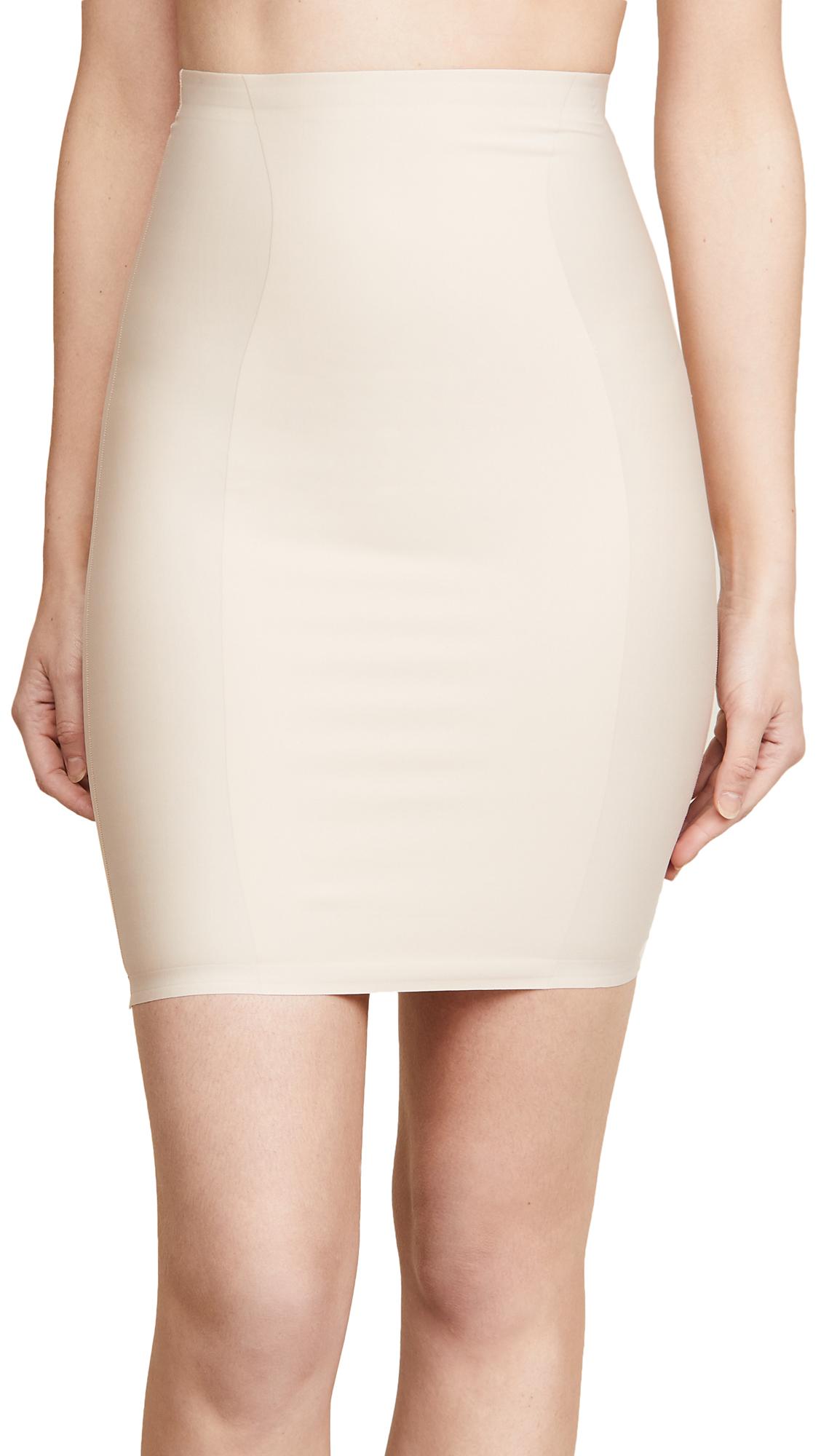 High Waist Skirt Slip, Frappe