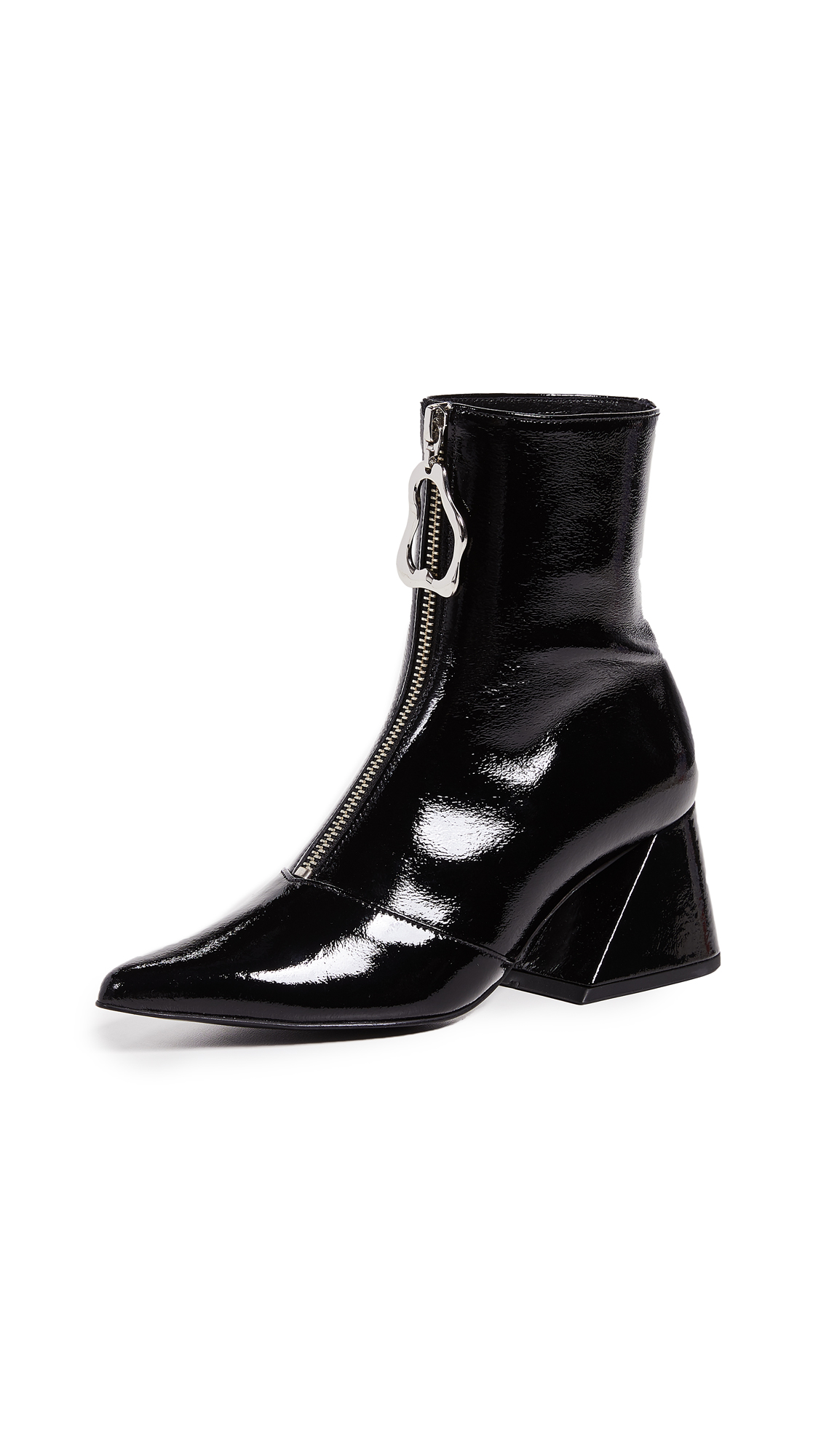 Yuul Yie Front Zip Y Booties - Black