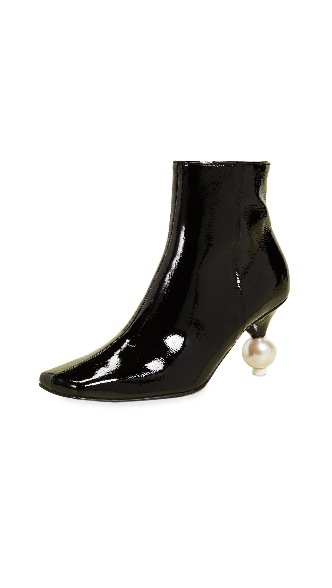Yuul Yie Short Imitation Pearl Booties - Black