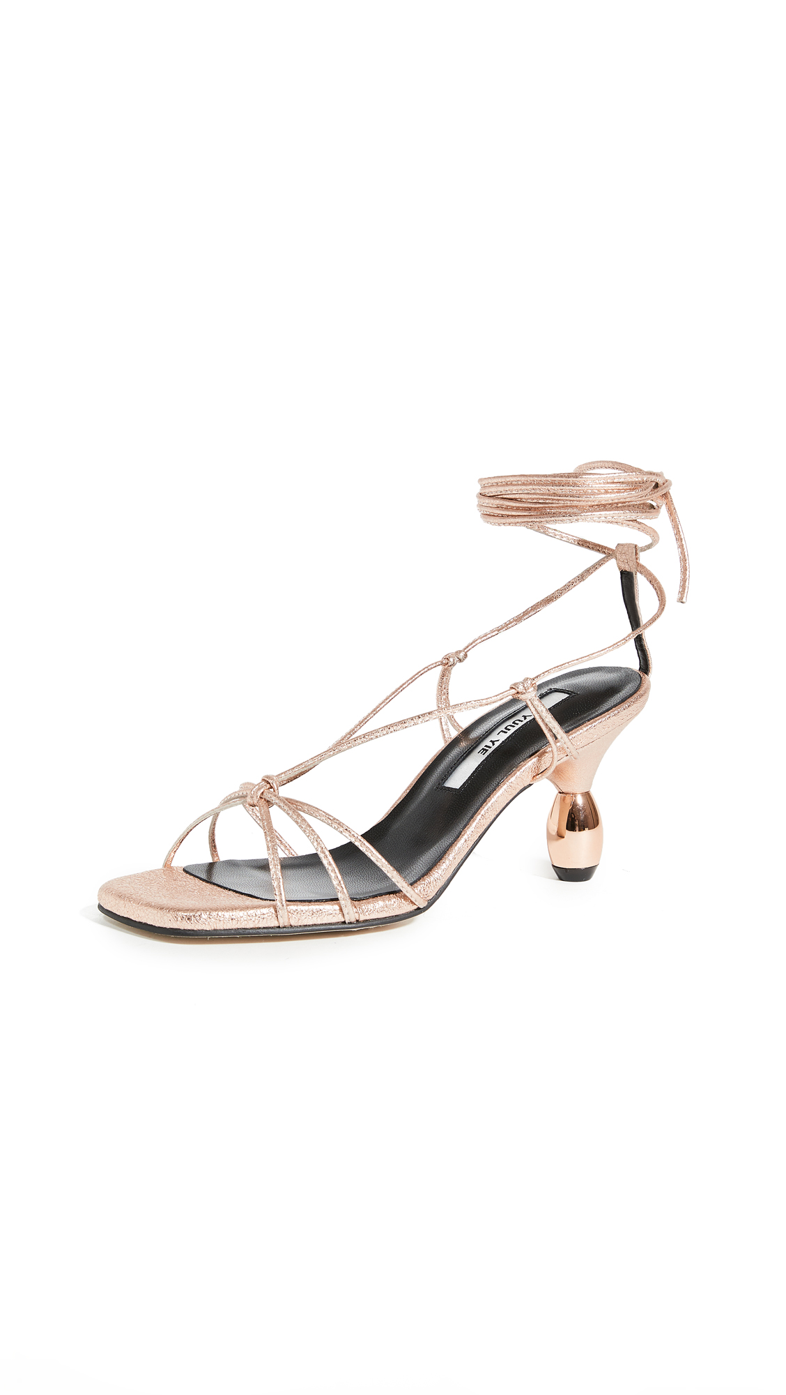 Buy Yuul Yie Crystal Lace Up Sandals online, shop Yuul Yie