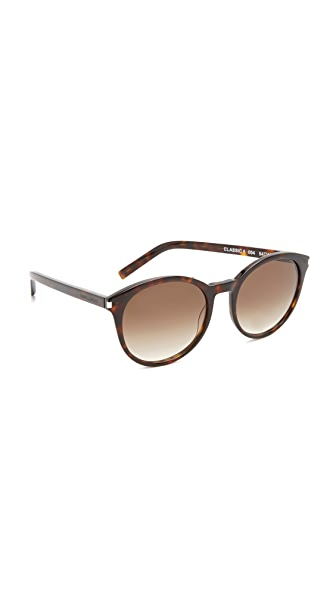 Saint Laurent Classic 6 Sunglasses - Dark Havana/Brown
