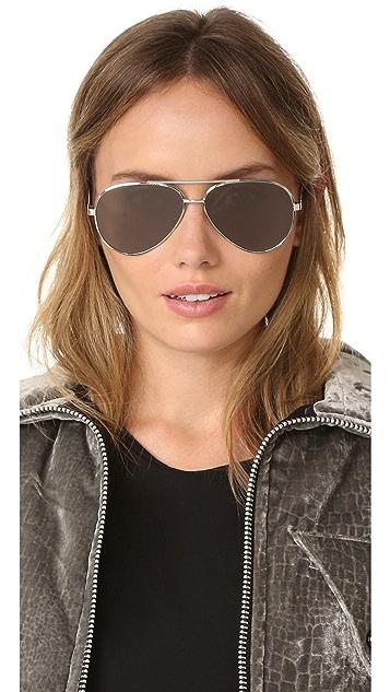 Saint Laurent Classic 11 Mineral Aviator Sunglasses