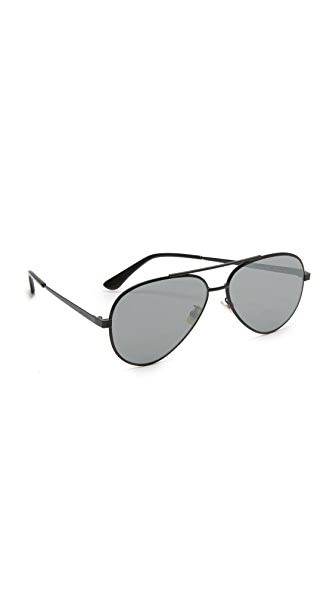 Saint Laurent Классические зеркальные солнцезащитные очки «авиаторы» 11 Zero Base