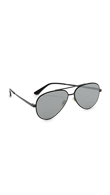 Saint Laurent Classic 11 Zero Base Mirrored Aviator Sunglasses