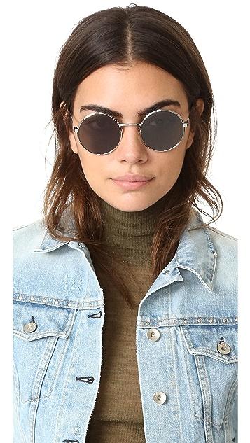 Saint Laurent SL 136 Zero Base Mineral Lense Round Sunglasses