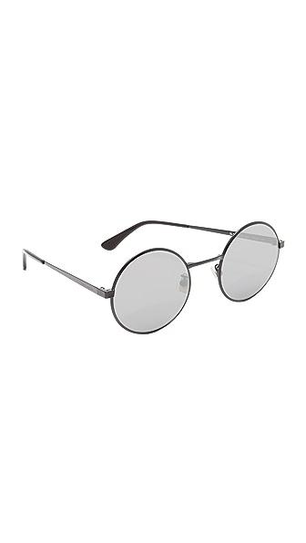 Saint Laurent Круглые солнцезащитные очки SL 136 Zero Base с зеркальными линзами