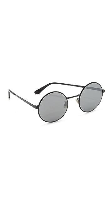 Saint Laurent SL 136 Zero Base Round Mirrored Sunglasses