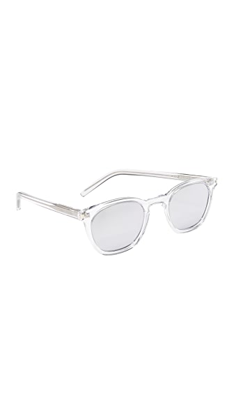 Saint Laurent SL 28 Mirrored Sunglasses