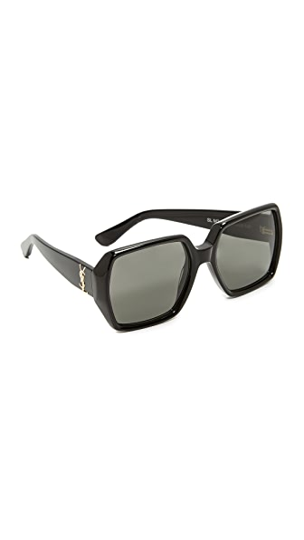 Saint Laurent SL M2 Sunglasses - Black/Grey