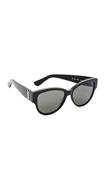 Saint Laurent SL M3 Sunglasses In Black/Grey