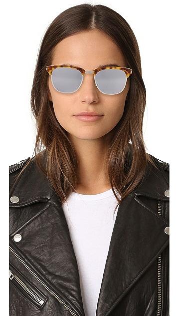 Saint Laurent SL 108 Slim Mirrored Sunglasses