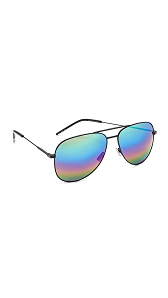 Saint Laurent Classic 11 Rainbow Sunglasses - Matte Black/Rainbow