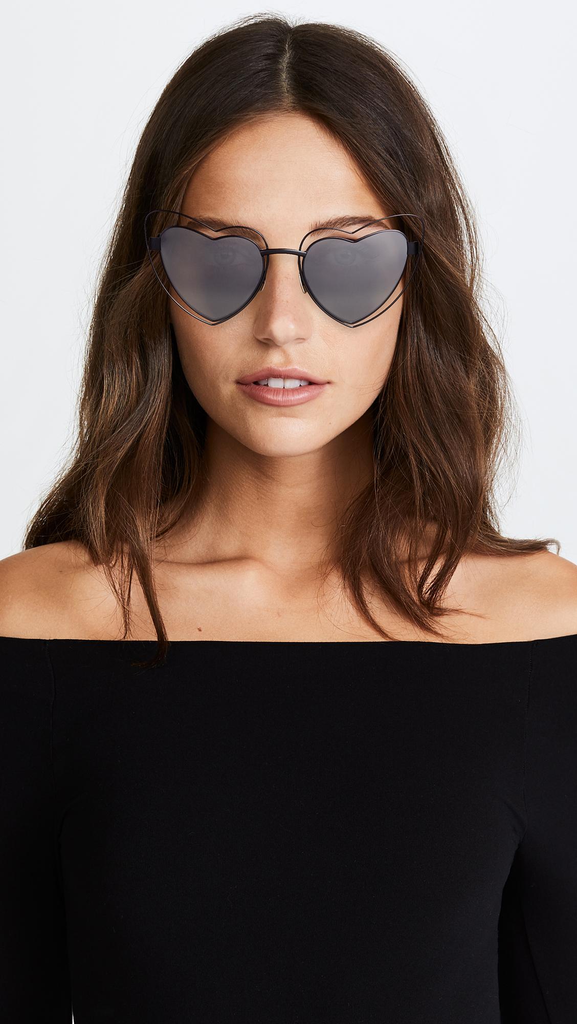 d9da18e9c9 Saint Laurent Lou Lou Hearts Sunglasses
