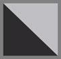 полуматовый черный/серебристо-серый