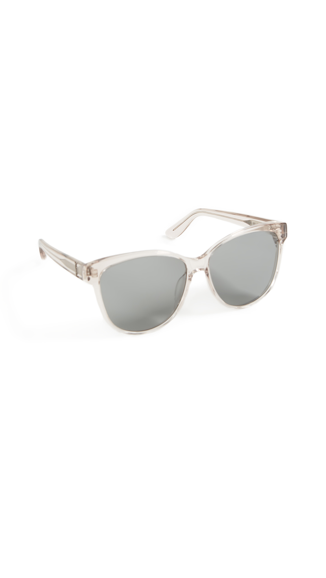 Saint Laurent Signature Classic Sunglasses In Transparent Powder/Grey