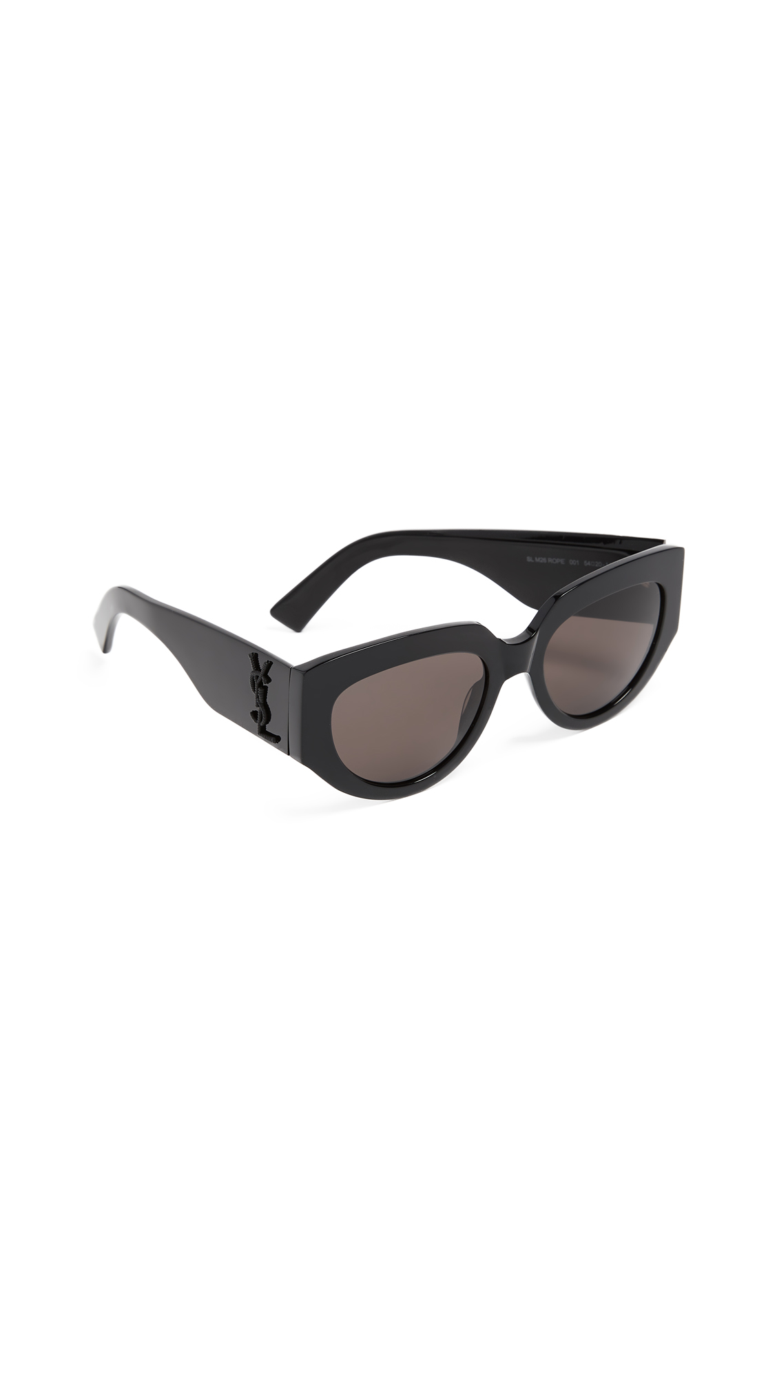 Saint Laurent SL M26 Rope Sunglasses In Black/Solid Grey