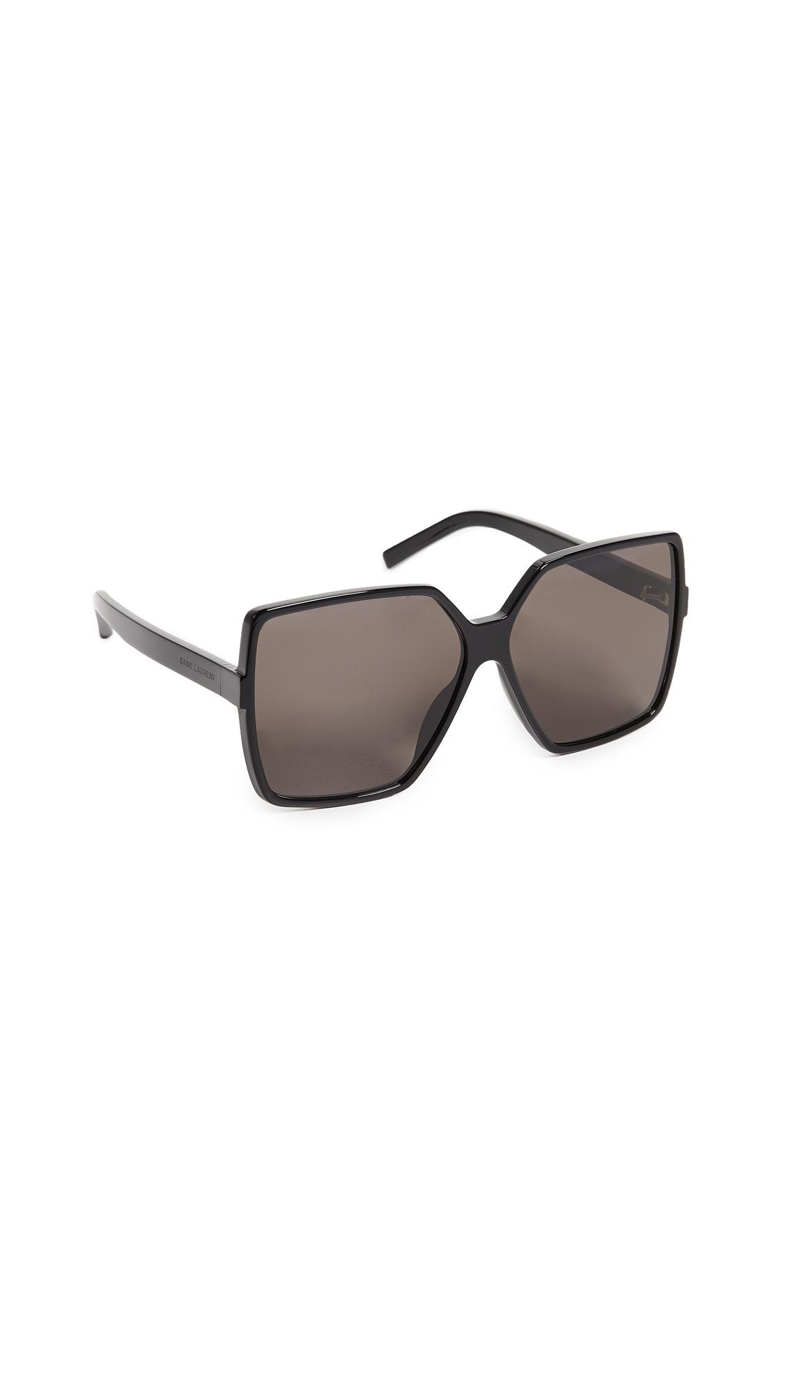 Sl 232 Betty Sunglasses, Black/Solid Grey