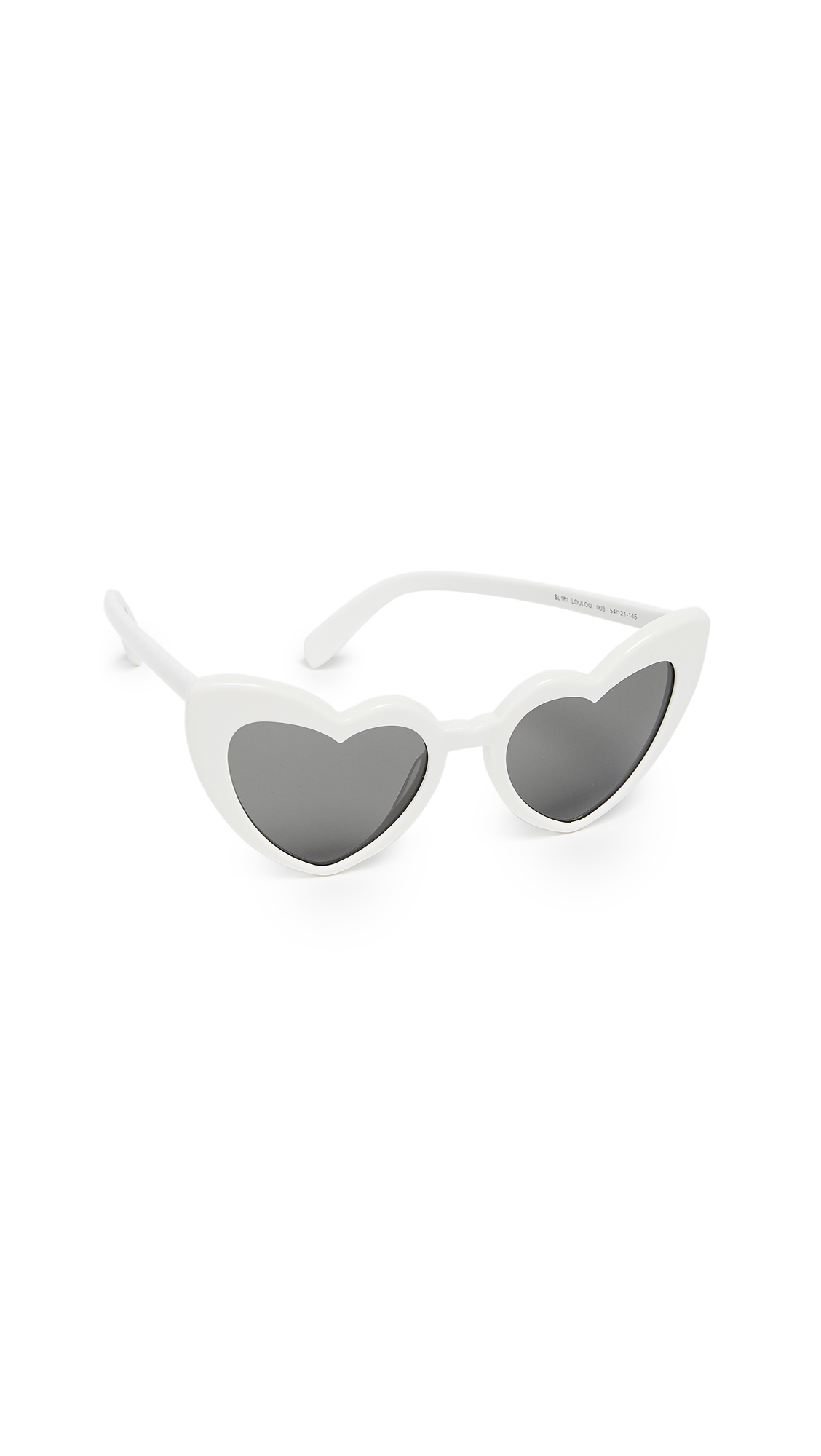 Saint Laurent SL 181 Lou Lou Hearts Sunglasses In Ivory