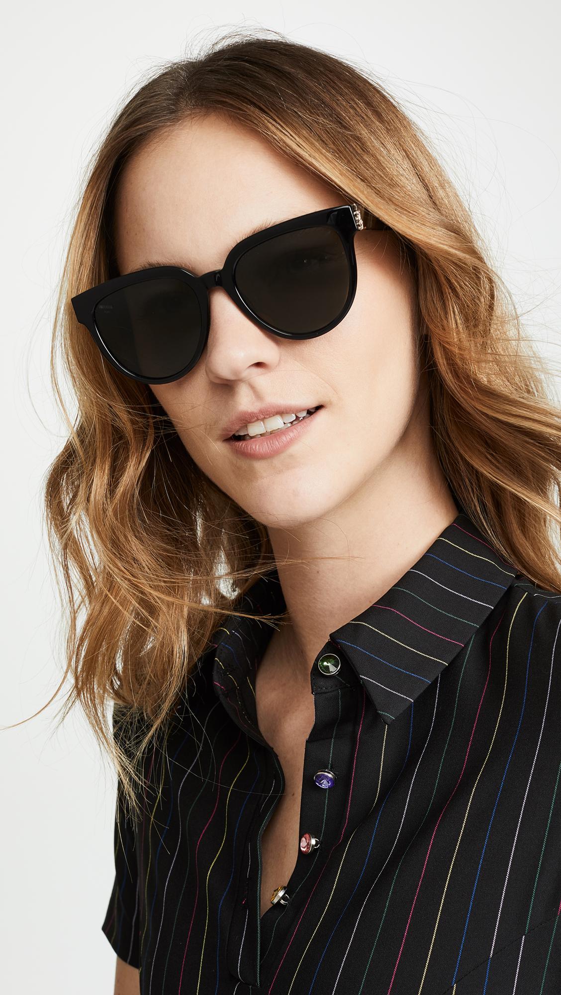6d218525c6d Saint Laurent SL M28 Acetate Cat Eye Sunglasses | SHOPBOP