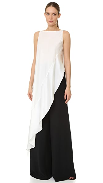 Zac Posen Sleeveless Asymmetrical Top - Ivory