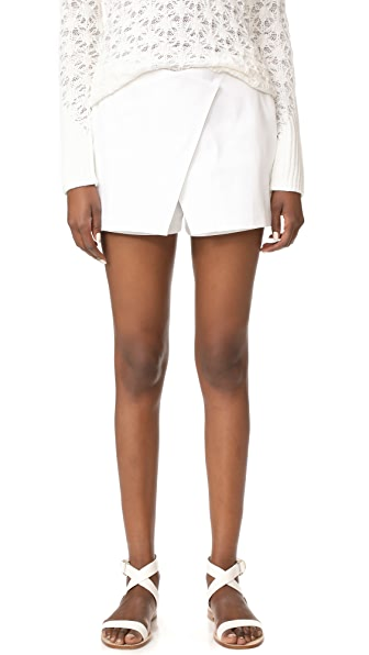 Zac Posen Mini Skort - White