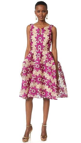 Фото Zac Posen Платье с цветочным рисунком. Купить с доставкой