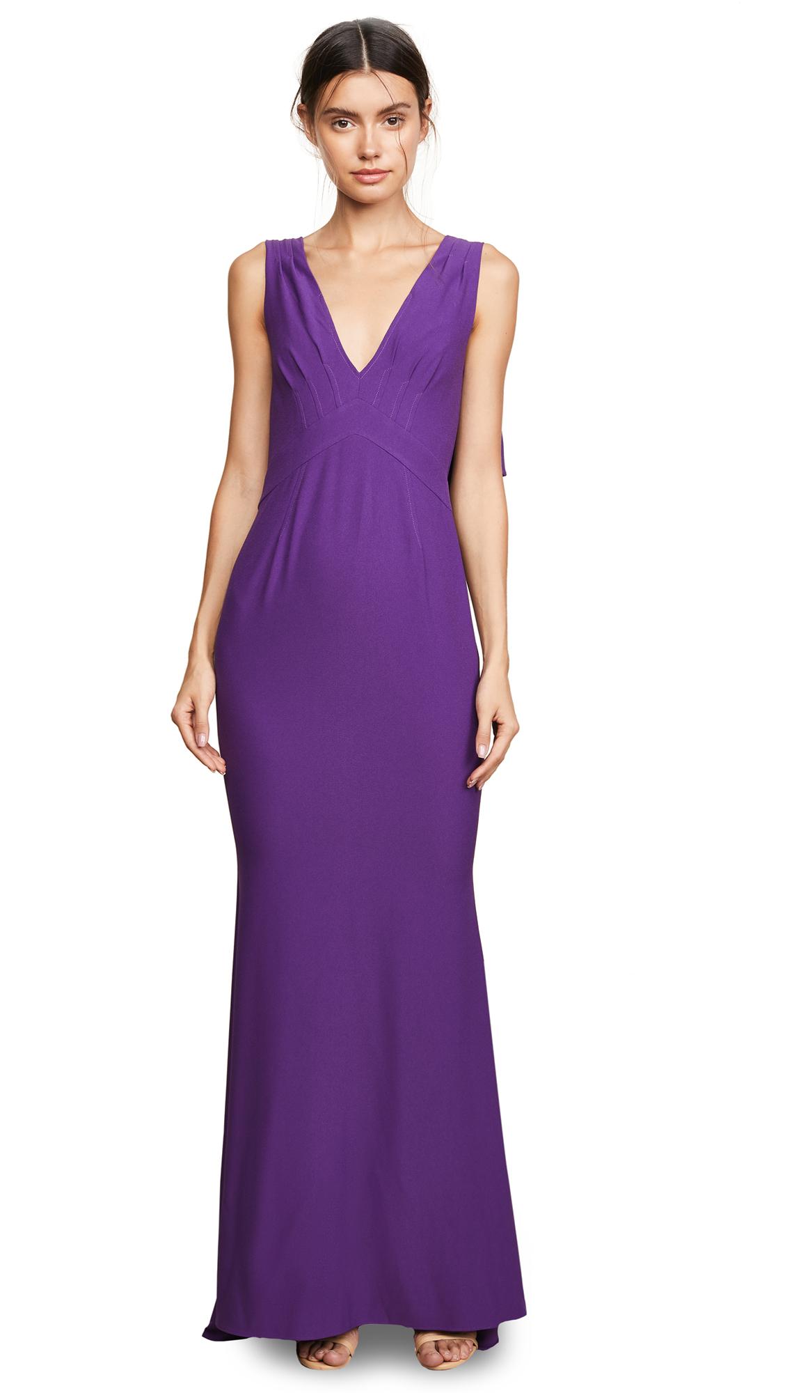 Zac Posen ZAC Zac Posen Blythe Gown - Violet