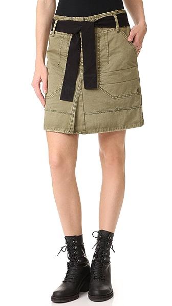 Zadig & Voltaire Jewel Grunge Skirt - Kaki