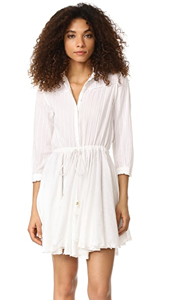 Zadig & Voltaire Ranil Long Sleeve Dress - Blanc
