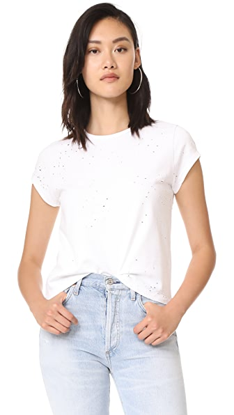 Zadig & Voltaire Woo Used Tee In Blanc
