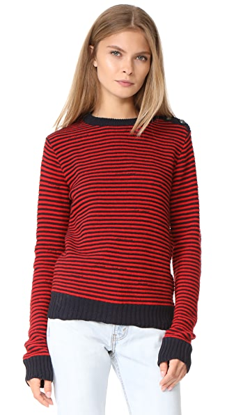 Zadig & Voltaire Jade Striped Sweater In Rouge