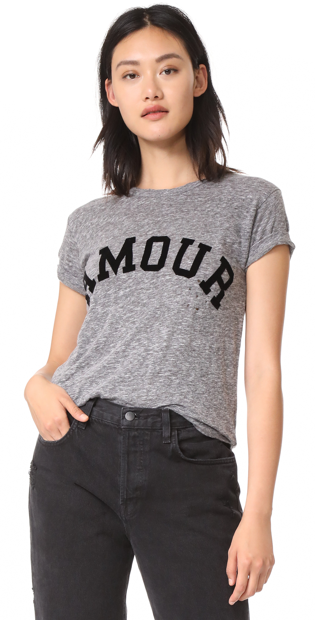 Amour Distressed Tee Zadig  Voltaire