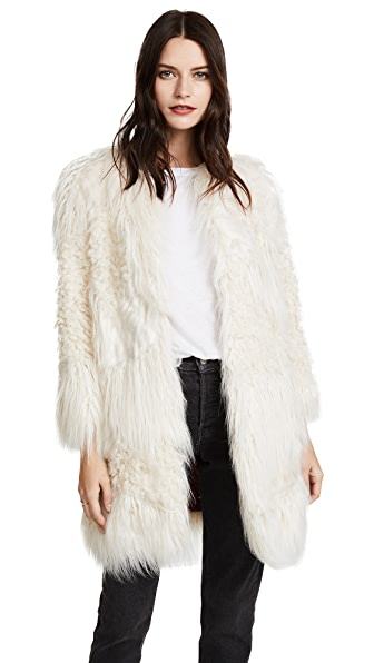 Zadig & Voltaire Lamy Faux Fur Jacket at Shopbop