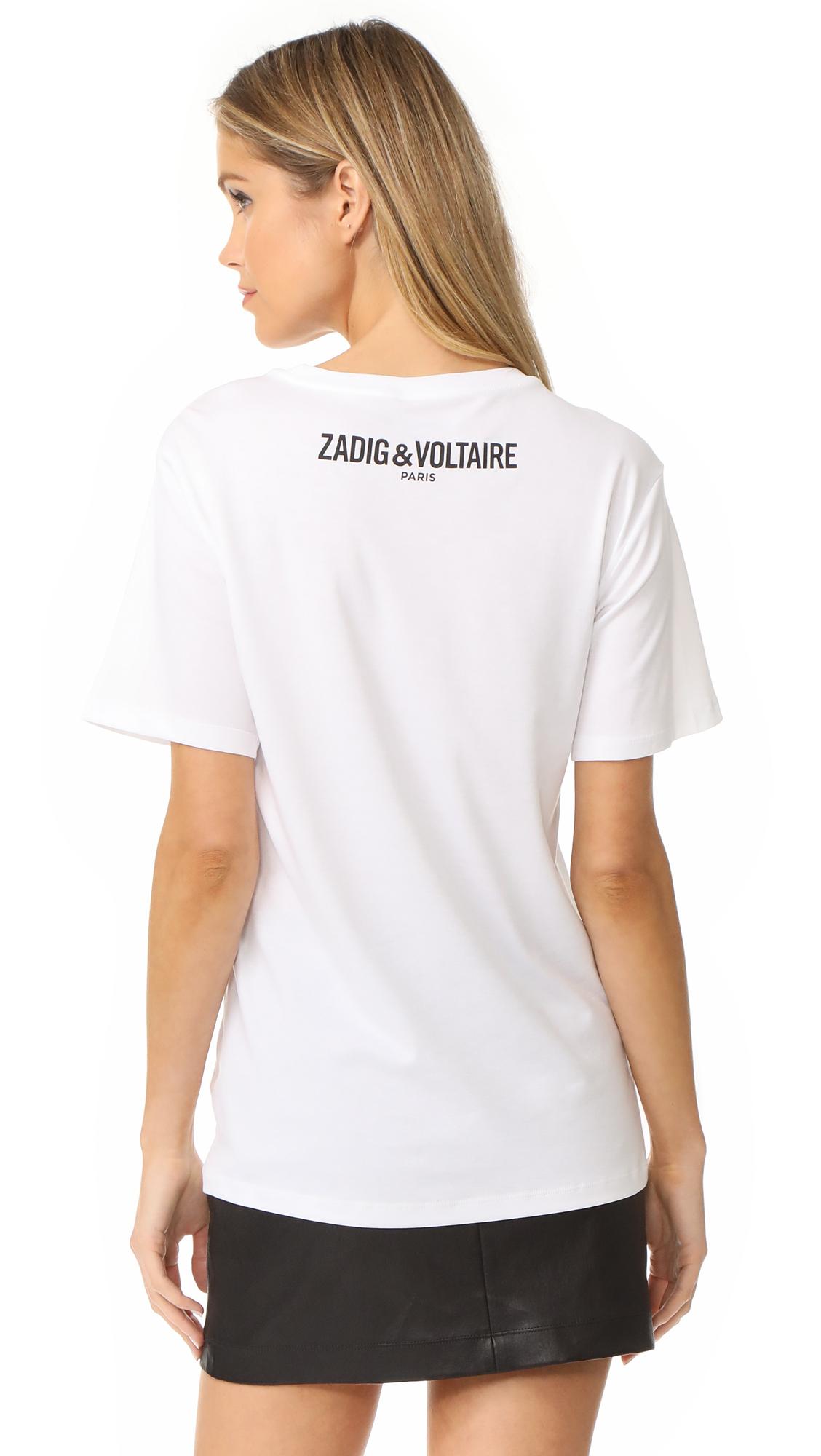 Wiki Livraison Gratuite Expédition Monde Entier T-shirt Tiny Girls Blanc Zadig & VoltaireZadig & Voltaire De La France Pas Cher En Ligne En Ligne À Faible Coût Z5BdGs