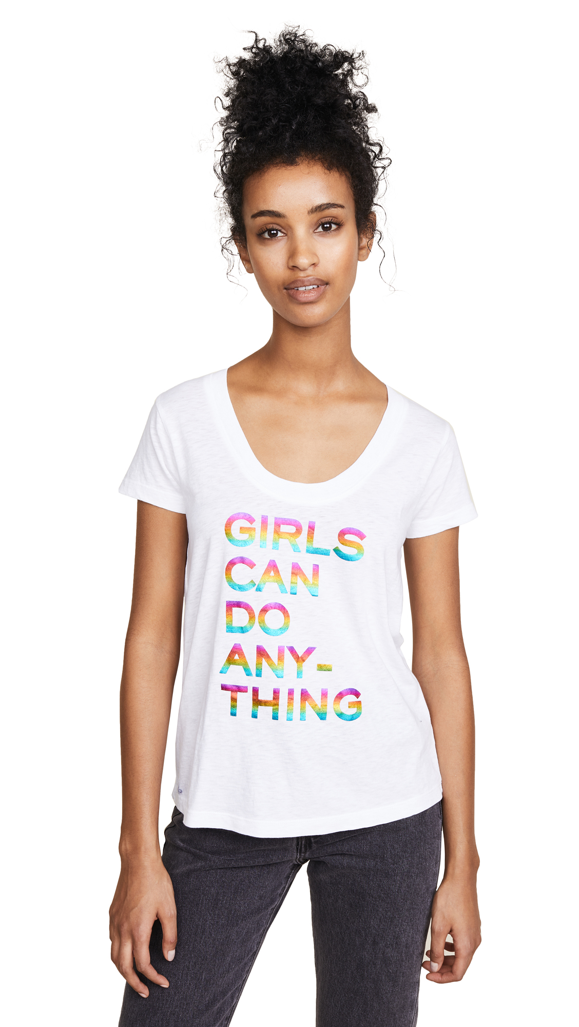 GIRLS CAN DO ANYTHING GRAPHIC TEE