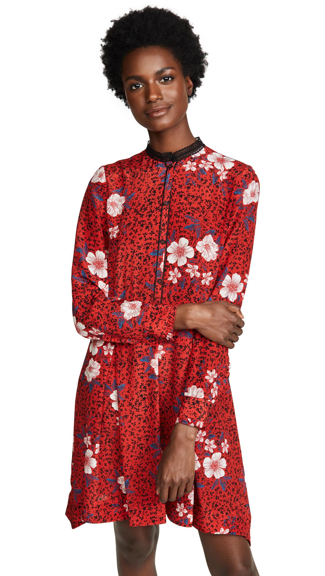 Zadig & Voltaire Ruti Dress In Rouge