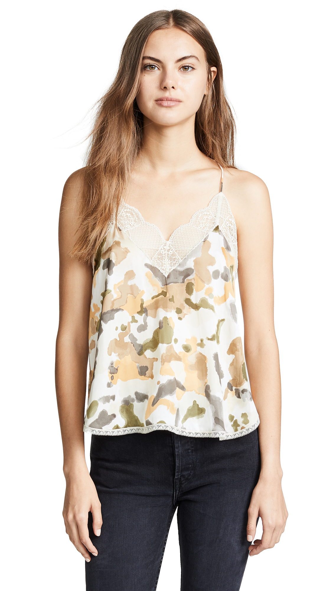 Christy Camouflage Camisole in Beige