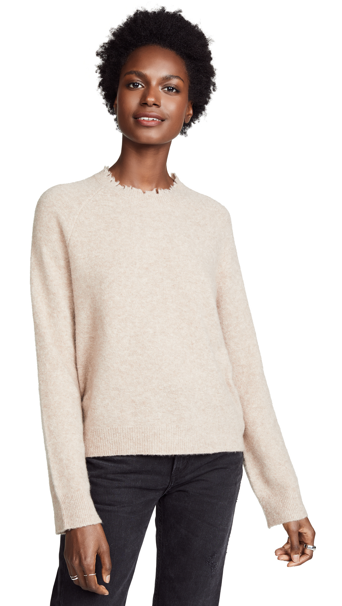 Zadig & Voltaire Asa Cashmere Sweater In Taupe Rose