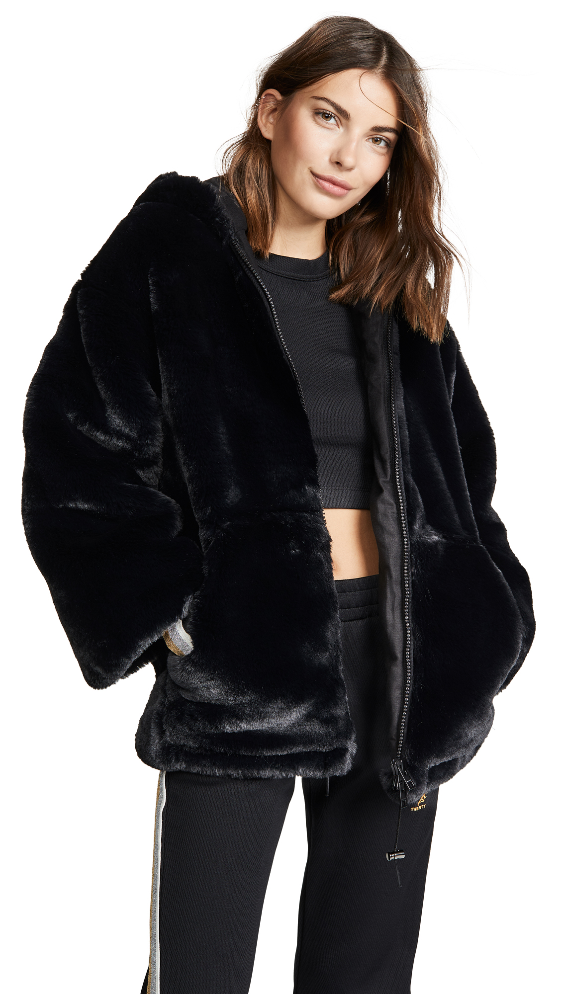 Malia Coat in Noir