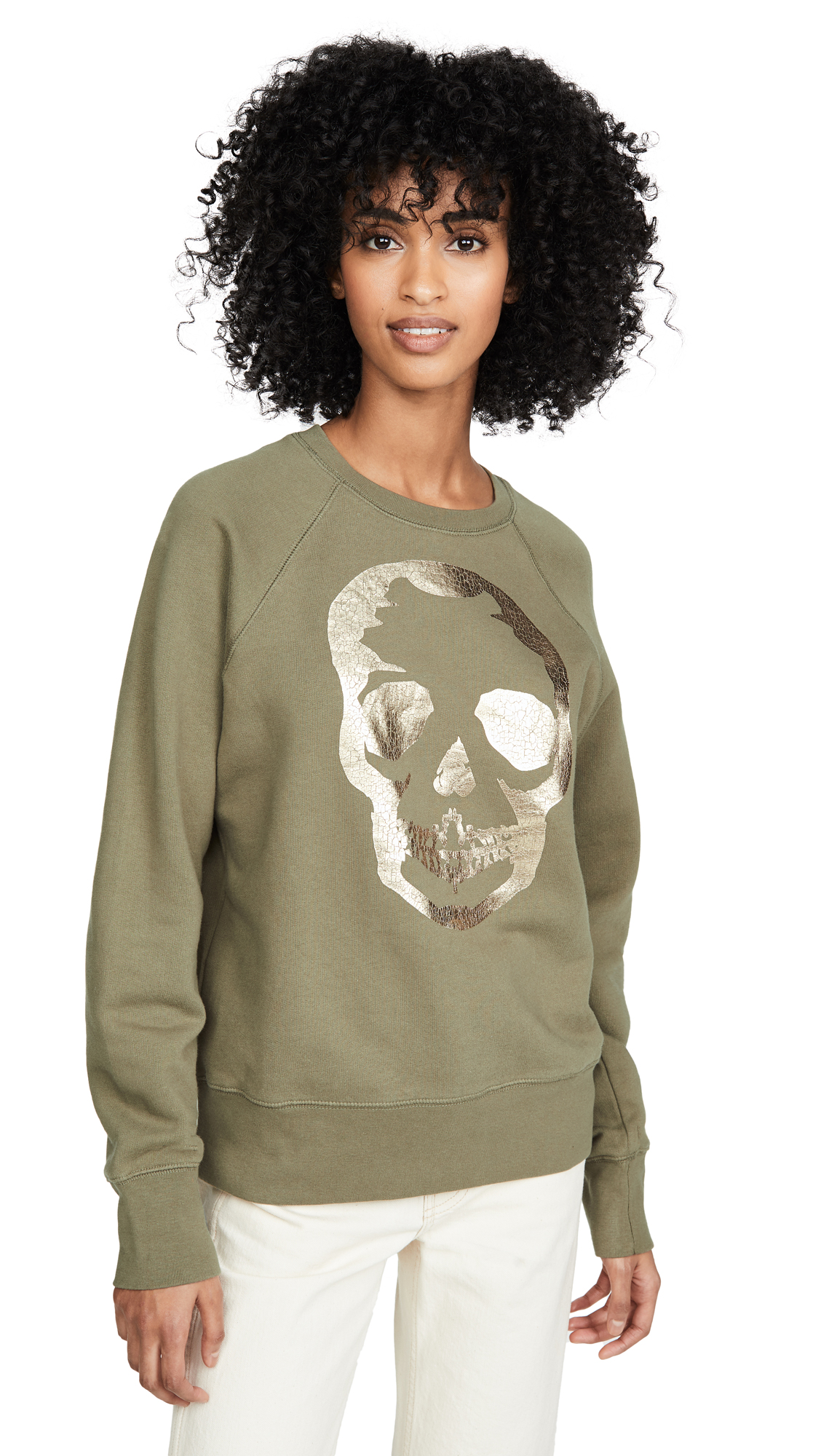 Buy Zadig & Voltaire online - photo of Zadig & Voltaire Upper Skull Gold Sweatshirt