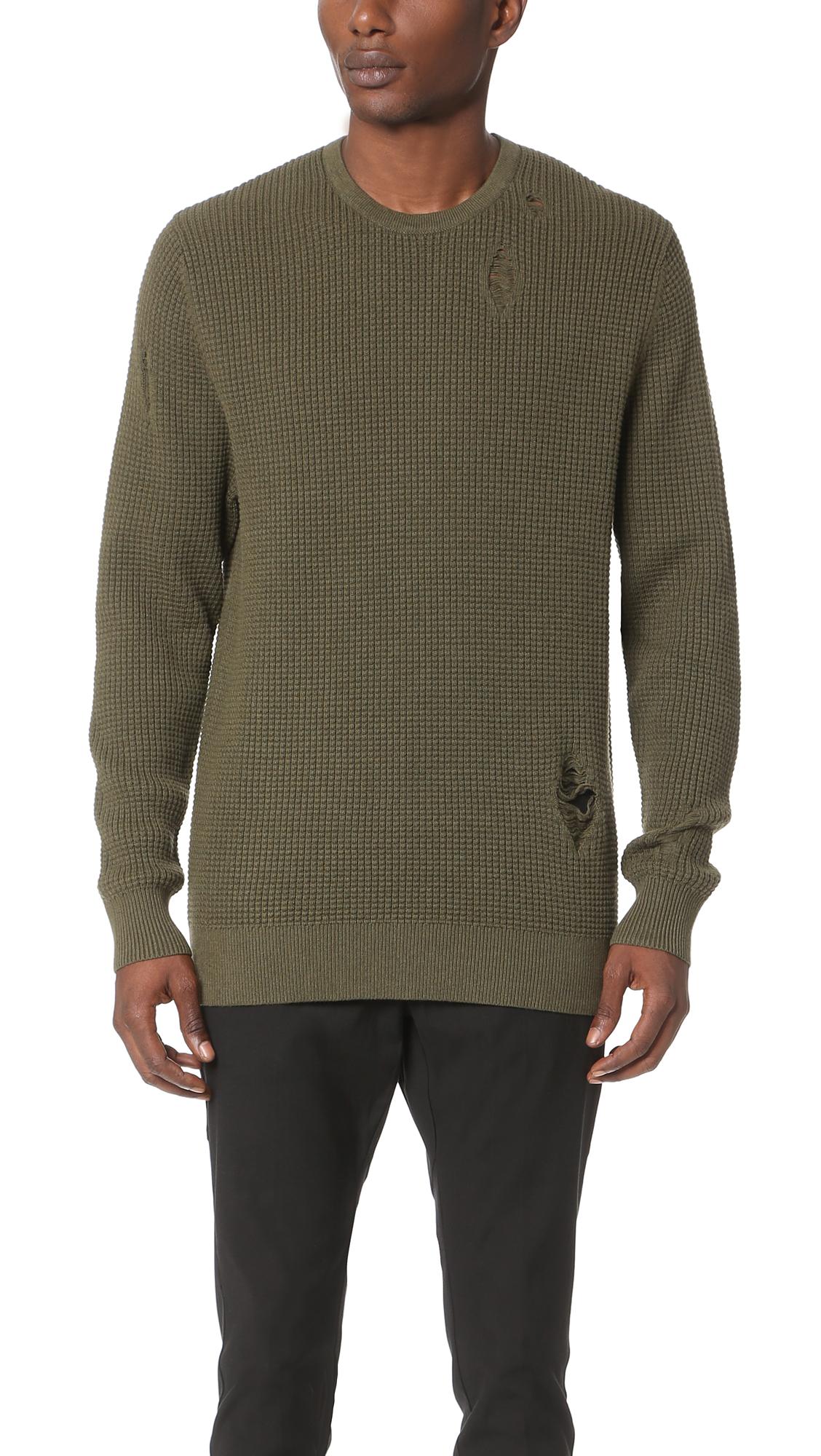 f5e490ab Zanerobe Waffle Knit Crew Sweater   EAST DANE