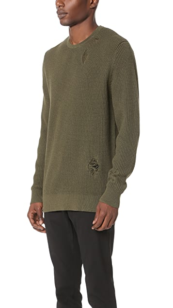 Zanerobe Waffle Knit Crew Sweater