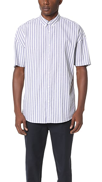 Zanerobe Stripe Rugger Short Sleeve Shirt